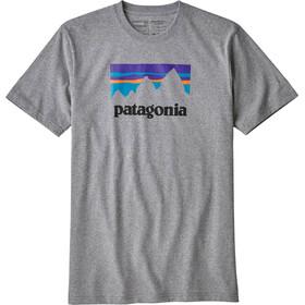 Patagonia Shop Sticker Camiseta Responsable Hombre, gravel heather